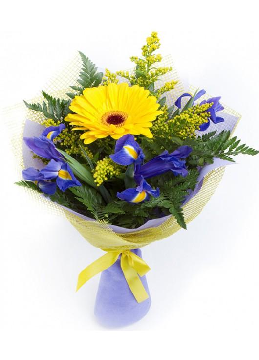Бюджетные букет из 5 гербер, цветы подарить